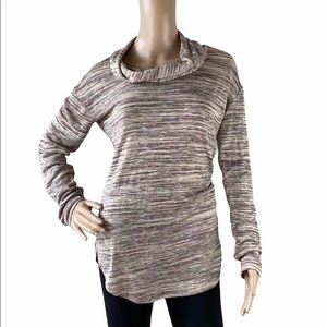 Knox Rose Heathered Cowl Neck Knitted Sweater